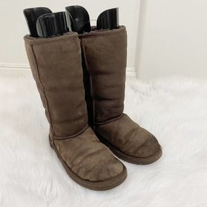 Ugg Classic Tall Shearling Boots in Brown US Sz 6